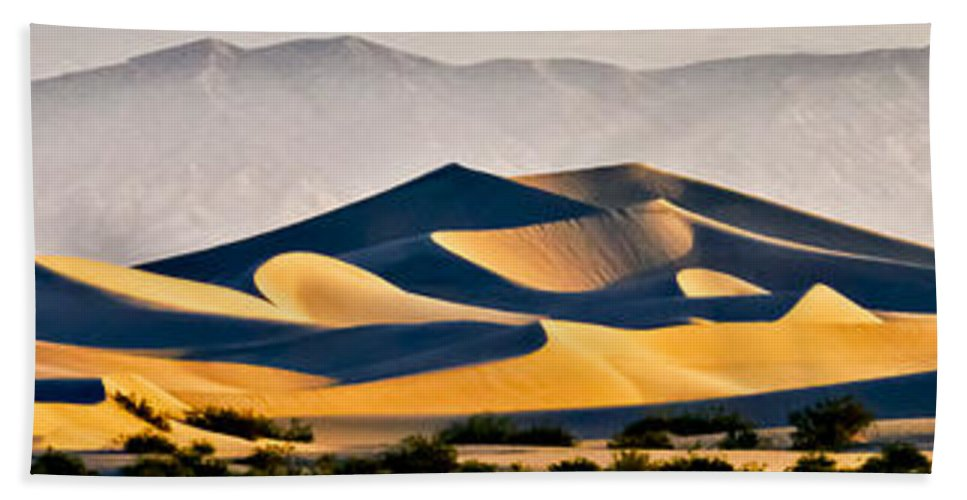 Death Valley Beach Towel featuring the photograph Mesquite Dunes by Albert Seger