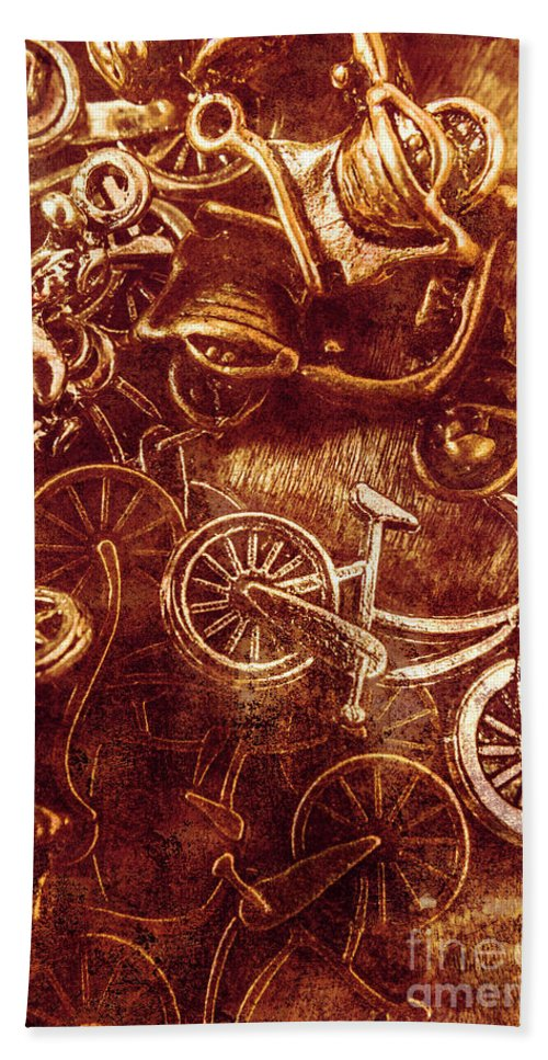 Bike Beach Towel featuring the photograph Messy Bike Workshop by Jorgo Photography - Wall Art Gallery