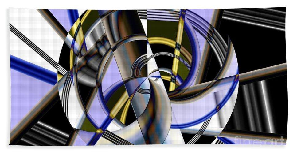 Metal Beach Towel featuring the digital art Metallics 5 by Ron Bissett