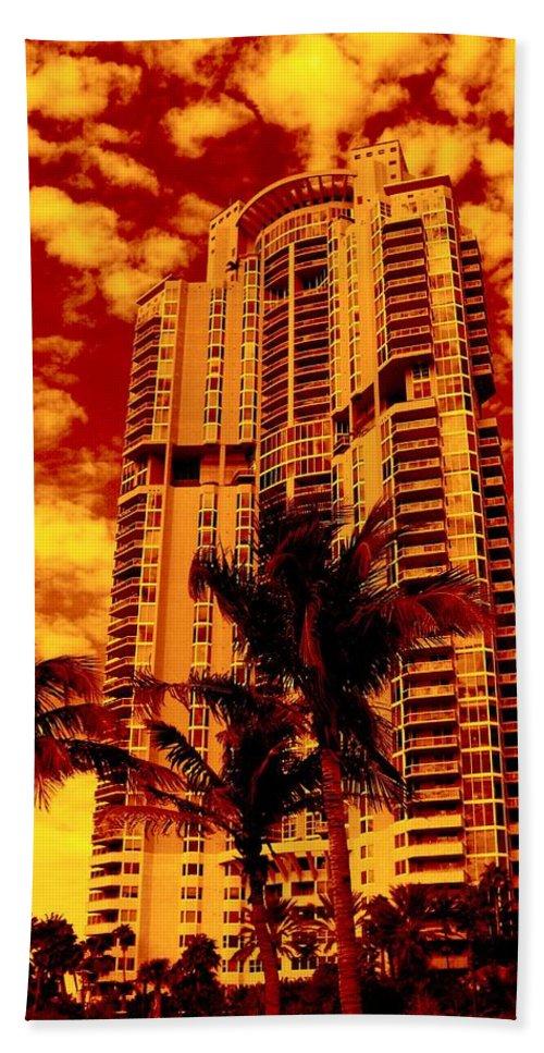Miami Prints Beach Towel featuring the photograph Miami South Pointe IIi by Monique's Fine Art