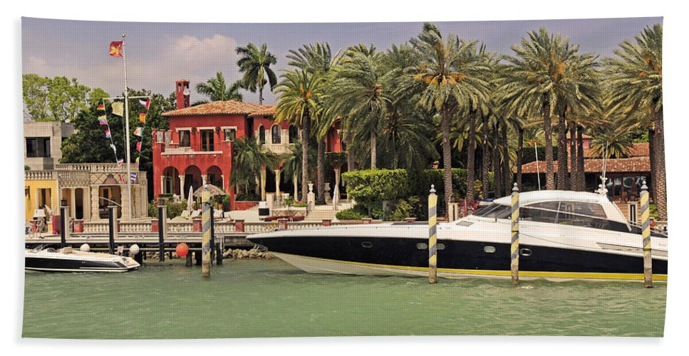 Miami Beach Towel featuring the photograph Miami Style by Steven Sparks
