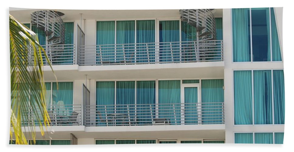 Architecture Beach Sheet featuring the photograph Miami Vice by Rob Hans