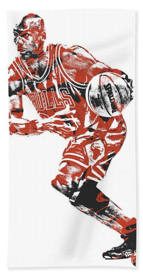 the latest 7243a 8ffb5 Michael Jordan Chicago Bulls Pixel Art 12 Beach Towel