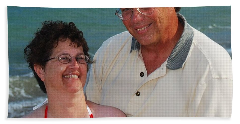 Michael Peychich Beach Towel featuring the photograph Michael Peychich And His Sweetheart by Michael Peychich