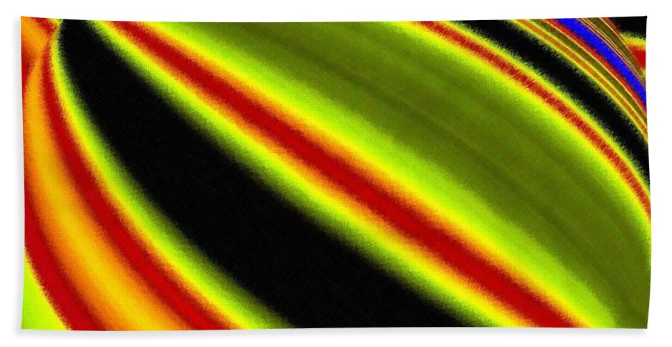 Micro Linear Beach Towel featuring the digital art Micro Linear 22 by Will Borden