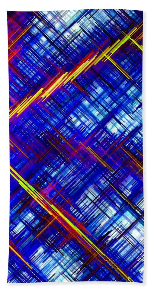 Micro Linear Beach Towel featuring the digital art Micro Linear 6 by Will Borden