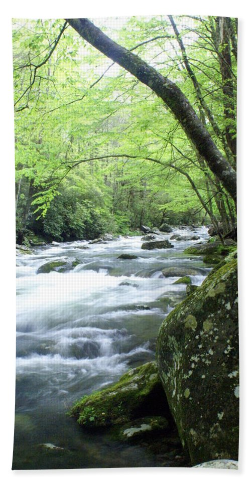 Stream Rive Beach Towel featuring the photograph Middle Fork River by Marty Koch