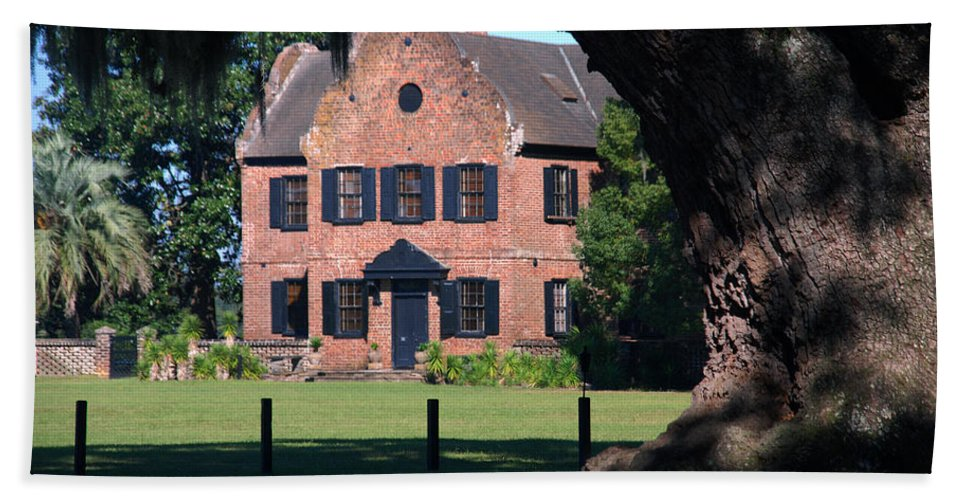 Photography Beach Towel featuring the photograph Middleton Place Plantation House by Susanne Van Hulst