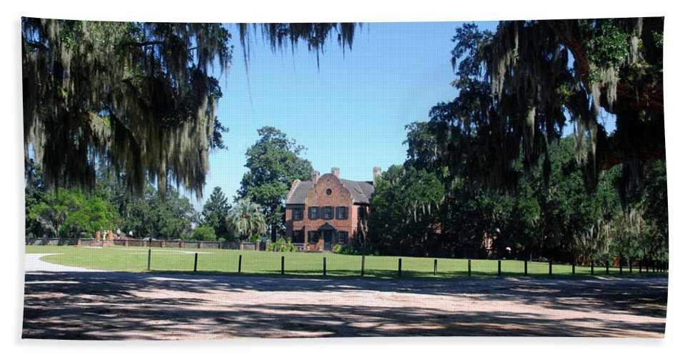 Photography Beach Towel featuring the photograph Middleton Plantation Charleston Sc by Susanne Van Hulst