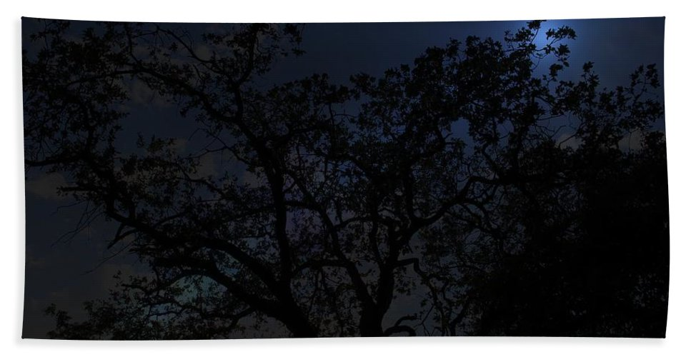 Moon Light In Redding California Beach Towel featuring the photograph Midnight Blue by Athala Bruckner