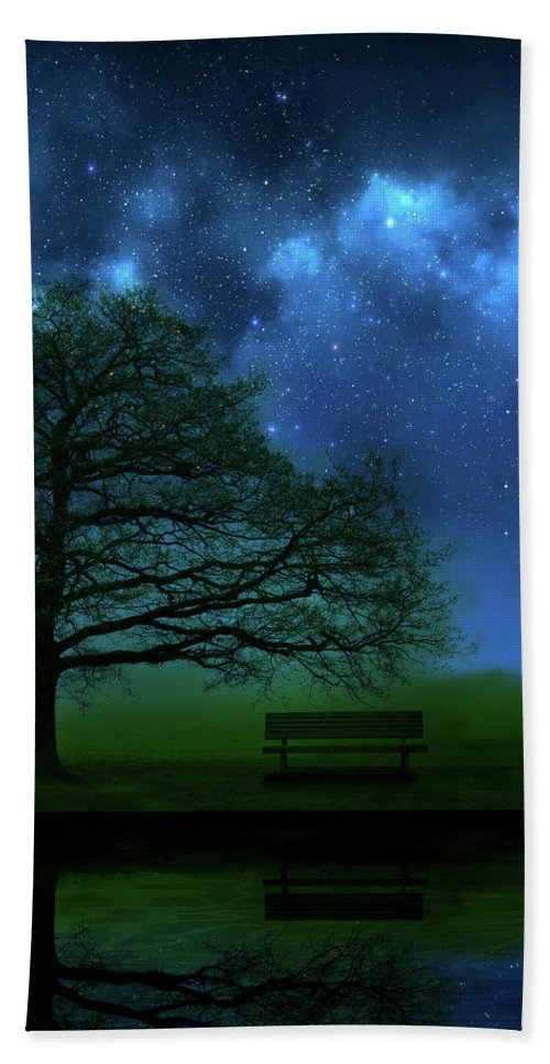 Tree Beach Towel featuring the photograph Midnight by Mark Rogan