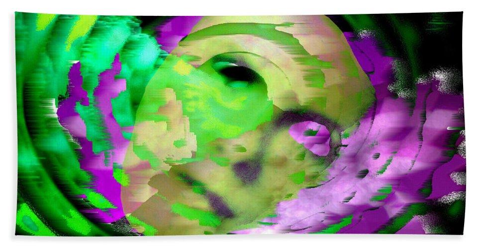 Midnight Beach Towel featuring the digital art Midnight Mask by Seth Weaver
