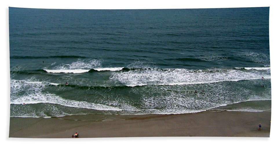 Ocean View Beach Towel featuring the photograph Mighty Ocean Aerial View by Patricia Taylor