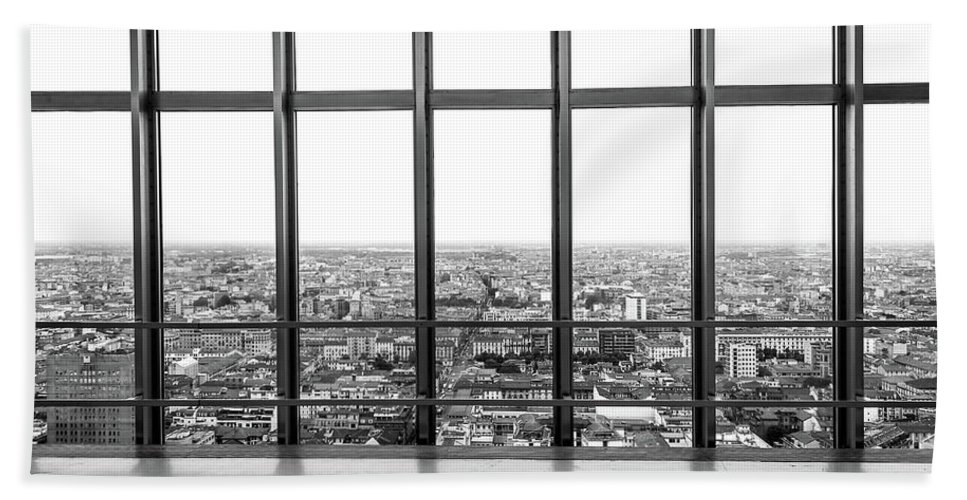 Architecture Beach Towel featuring the photograph Milan Skyline by Marco Iebba