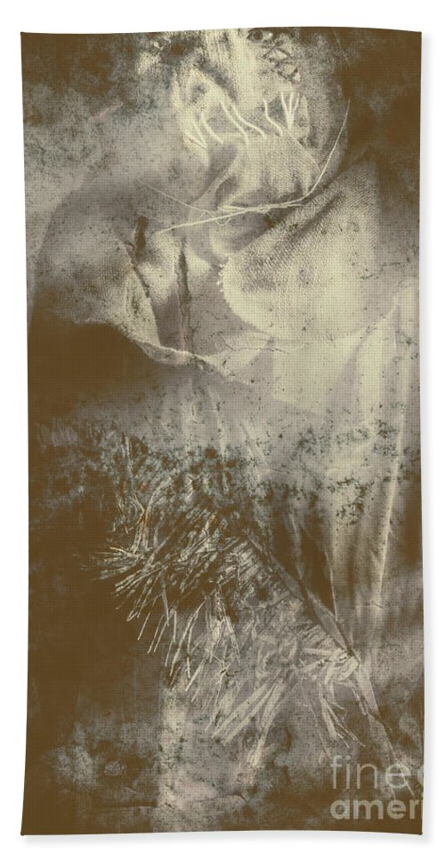 Scarecrow Beach Towel featuring the photograph Mildew The Scarecrow by Jorgo Photography - Wall Art Gallery