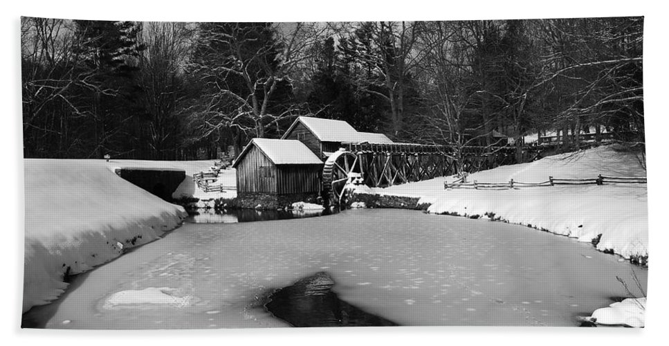 Ice Beach Towel featuring the photograph Mill On Ice by Eric Liller
