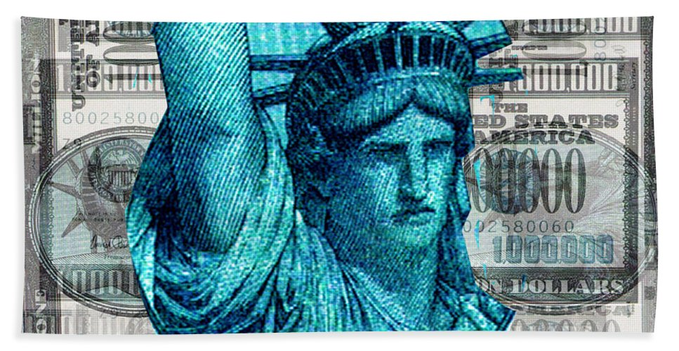 Millions Beach Towel featuring the digital art Million Dollar Pile by Seth Weaver