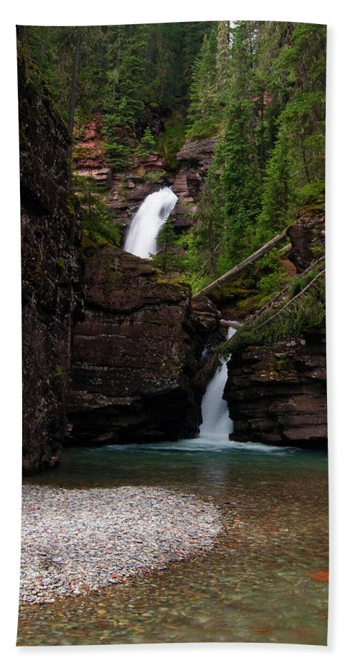 Colorado Beach Towel featuring the photograph Mineral Creek Falls by Steve Stuller