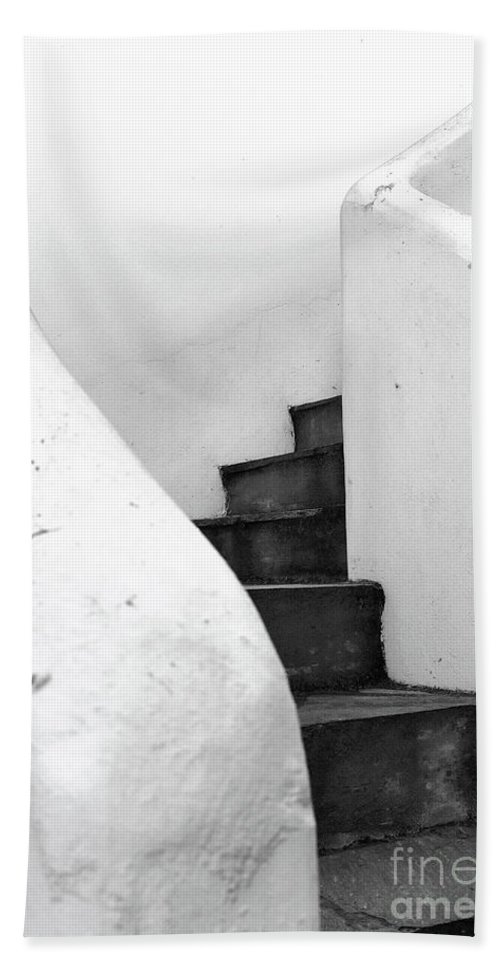 Minimal Beach Towel featuring the photograph Minimal Staircase by PrintsProject