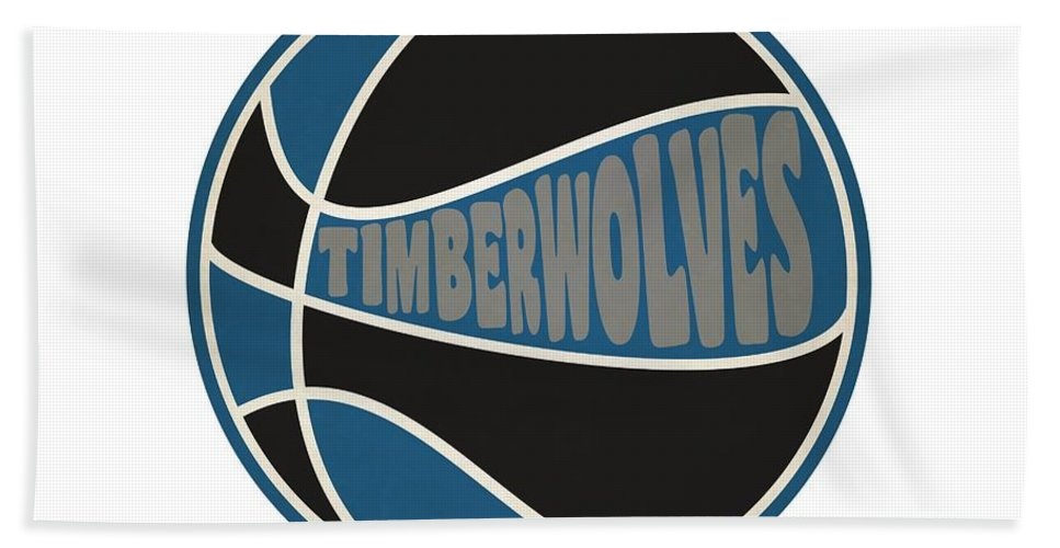 Timberwolves Beach Towel featuring the photograph Minnesota Timberwolves Retro Shirt by Joe Hamilton