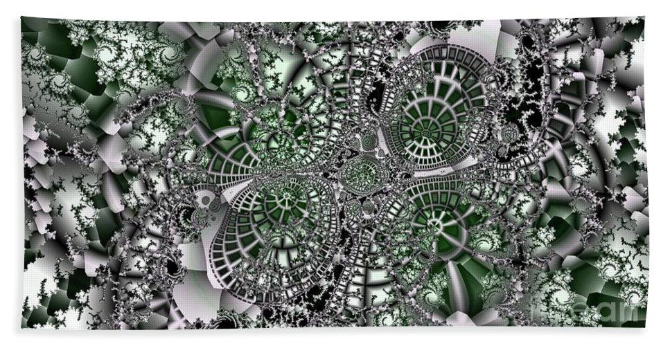 Fractal Beach Towel featuring the digital art Mint Metal by Ron Bissett