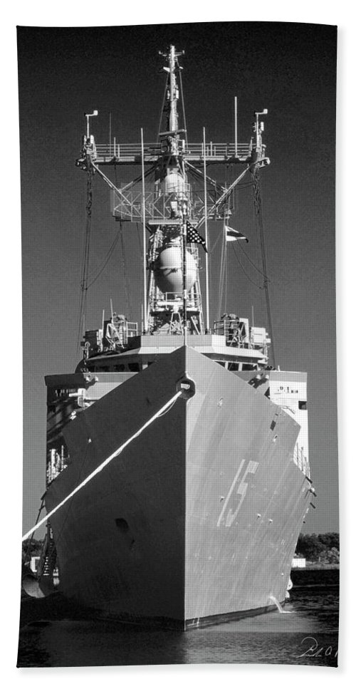 Photography Beach Towel featuring the photograph Missile Destroyer by Frederic A Reinecke