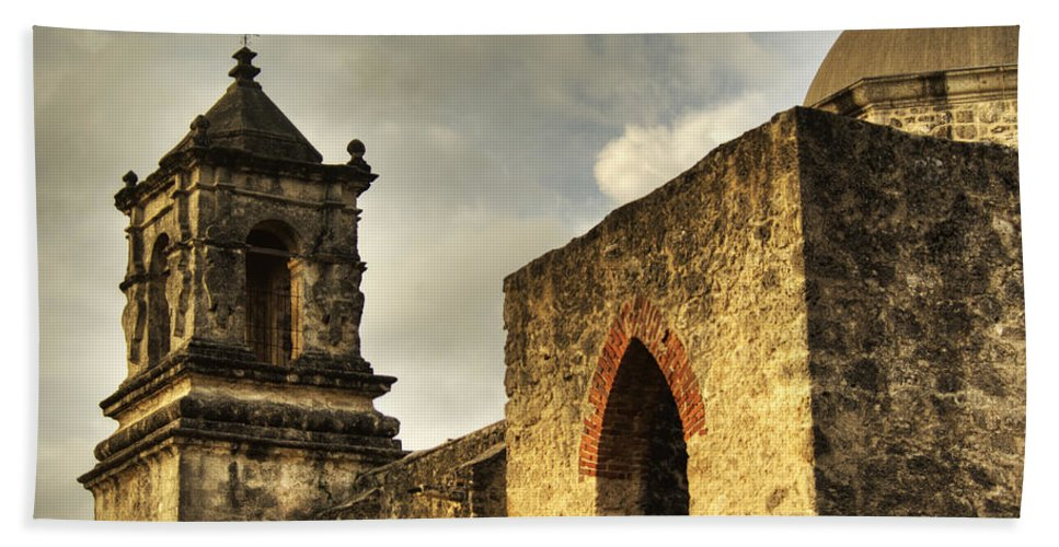 Mission Beach Towel featuring the photograph Mission San Jose I by Jim And Emily Bush