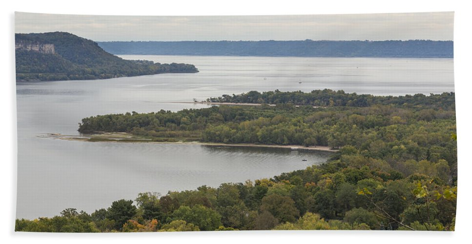 River Beach Towel featuring the photograph Mississippi River Lake Pepin 7 by John Brueske