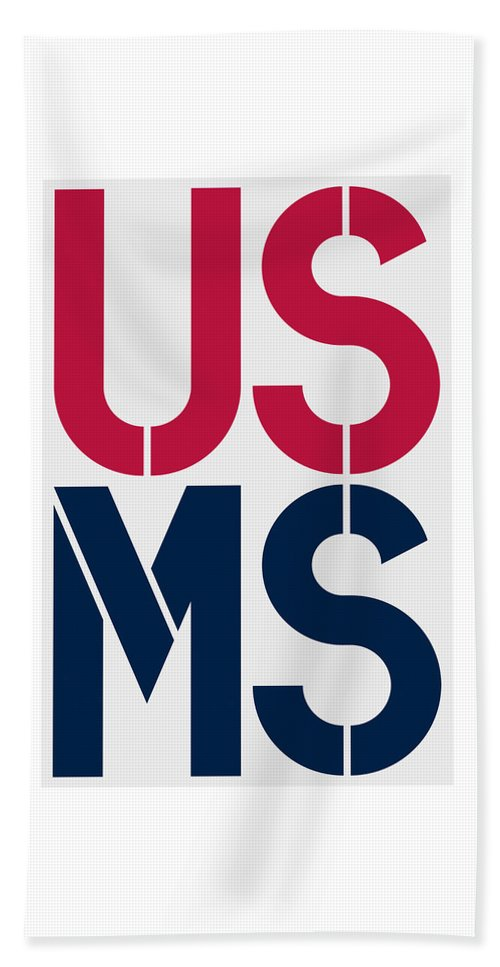 United States Of America Beach Towel featuring the painting Mississippi by Three Dots