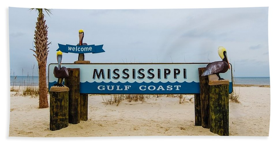 Mississippi Beach Towel featuring the photograph Mississippi Welcome by Rachel Kaufmann