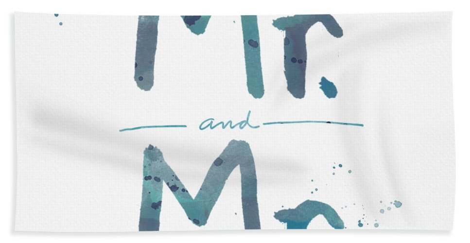 Equality Beach Towel featuring the painting Mister And Mister by Linda Woods