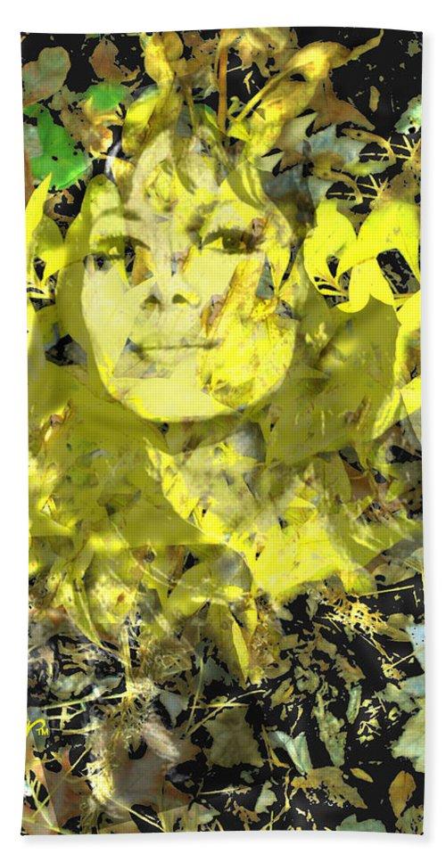 Mistress Of Autumn Beach Towel featuring the digital art Mistress of Autumn by Seth Weaver