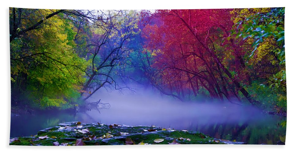 Mist Beach Towel featuring the photograph Misty Creek by Bill Cannon