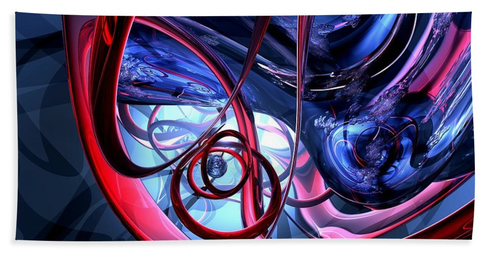 3d Beach Towel featuring the digital art Misty Dreams Abstract by Alexander Butler