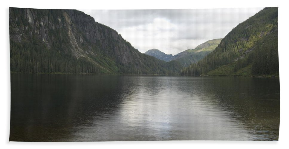 Alaska Beach Towel featuring the photograph Misty Fjord 3 by Michael Peychich