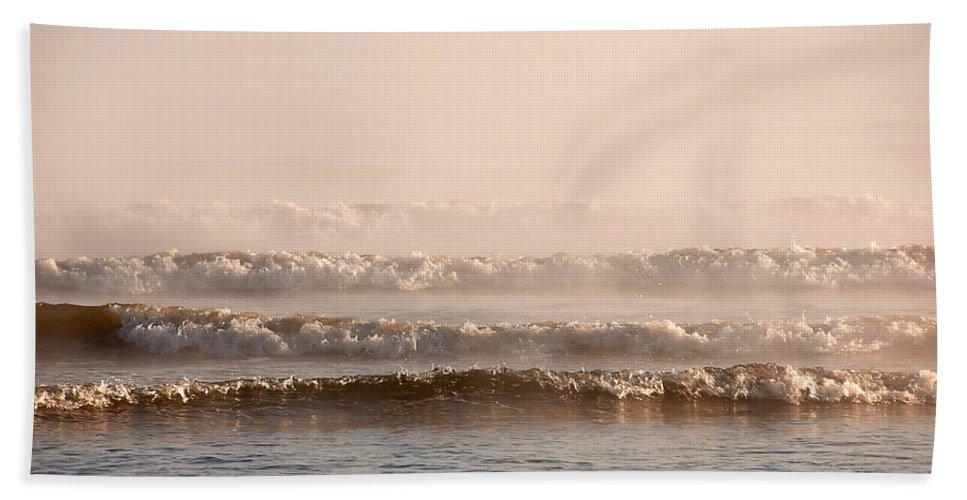 Blue Beach Towel featuring the photograph Misty Mist by Svetlana Sewell