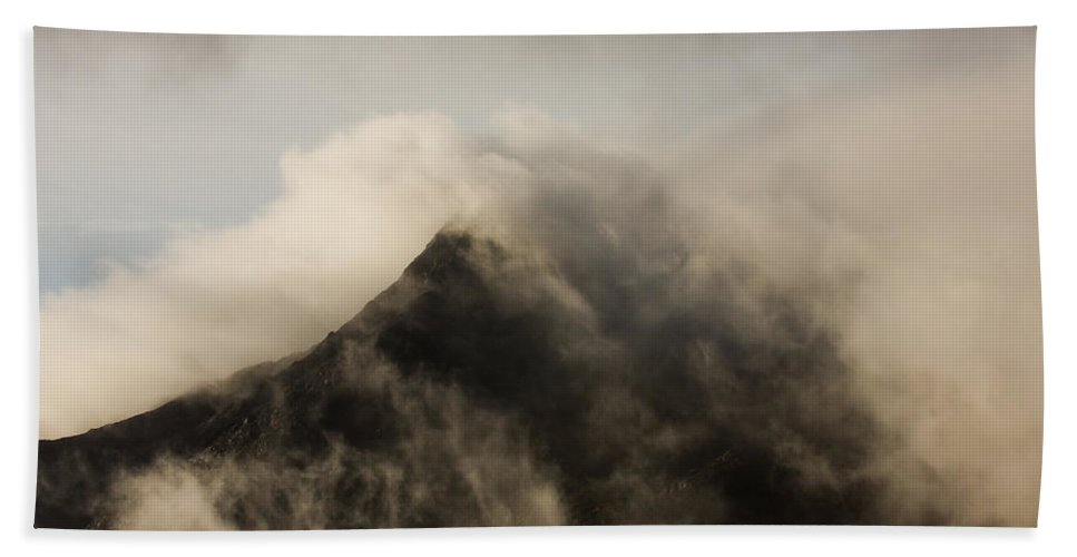 Scotland Beach Towel featuring the photograph Misty Peak by Colette Panaioti
