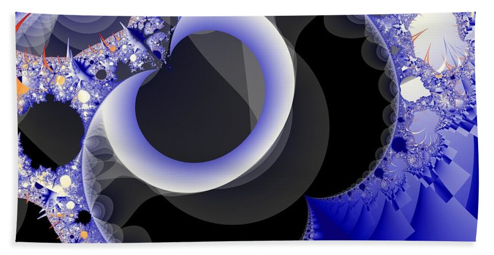 Fractal Image Beach Sheet featuring the digital art Mix Of Blue And Gray by Ron Bissett