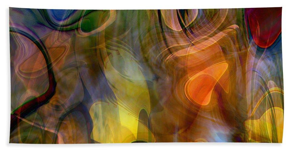 Mixed Emotions Beach Towel featuring the digital art Mixed Emotions by Linda Sannuti