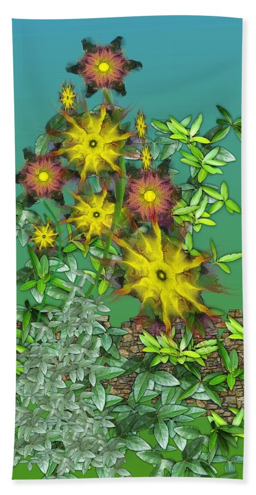 Flowers Beach Towel featuring the digital art Mixed Flowers by David Lane
