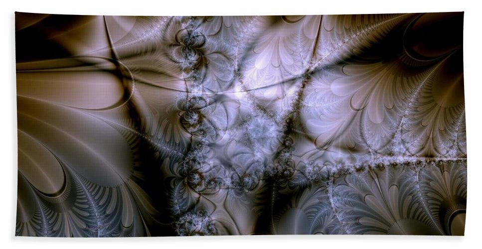 Chocolate Beach Towel featuring the digital art Molecular Cacao by Casey Kotas