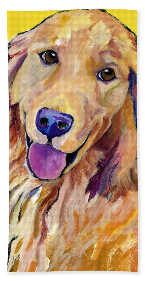 Acrylic Paintings Beach Towel featuring the painting Molly by Pat Saunders-White
