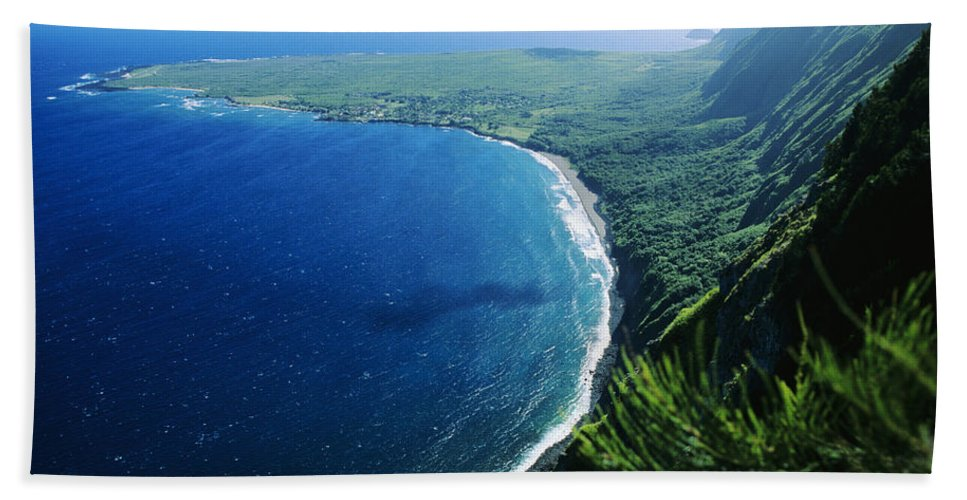 Above Beach Towel featuring the photograph Molokai, View by Ali ONeal - Printscapes