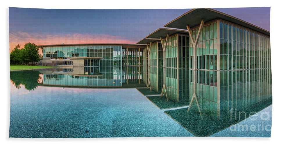 America Beach Towel featuring the photograph Moma Panorama by Inge Johnsson