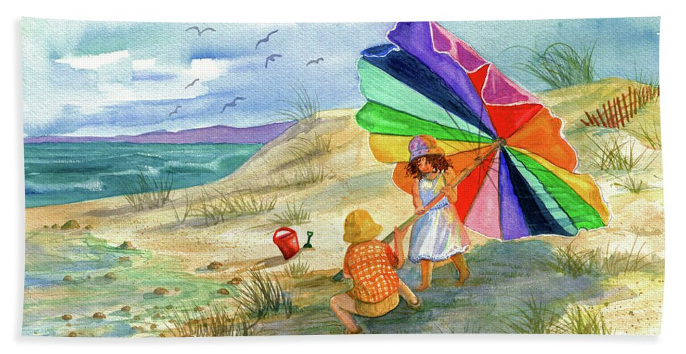 Children Beach Towel featuring the painting Moments To Remember by Marilyn Smith