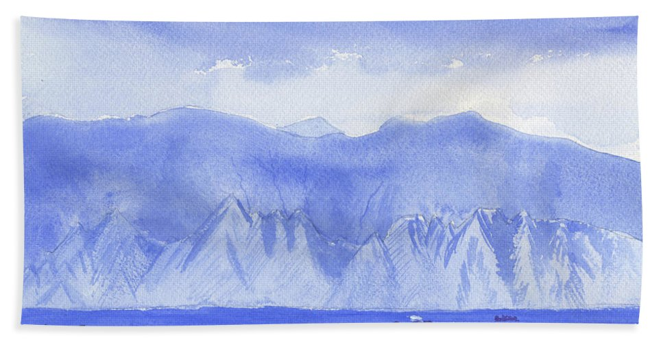 Mountains Beach Towel featuring the painting Monarch Flatirons II by Victor Vosen