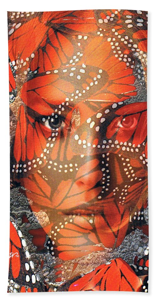 Butterfly Beach Towel featuring the digital art Monarch Moment by Seth Weaver