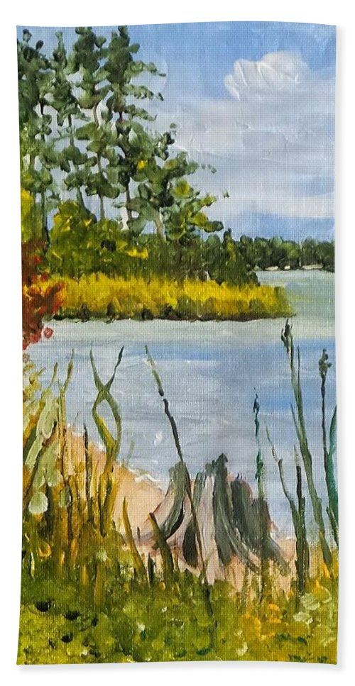Camp Lejuene Beach Towel featuring the painting Monford Point by James H Phillips