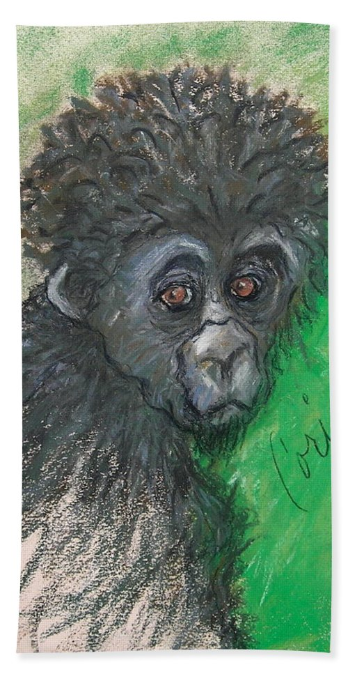 Monkey Beach Towel featuring the drawing Monkey Business by Cori Solomon