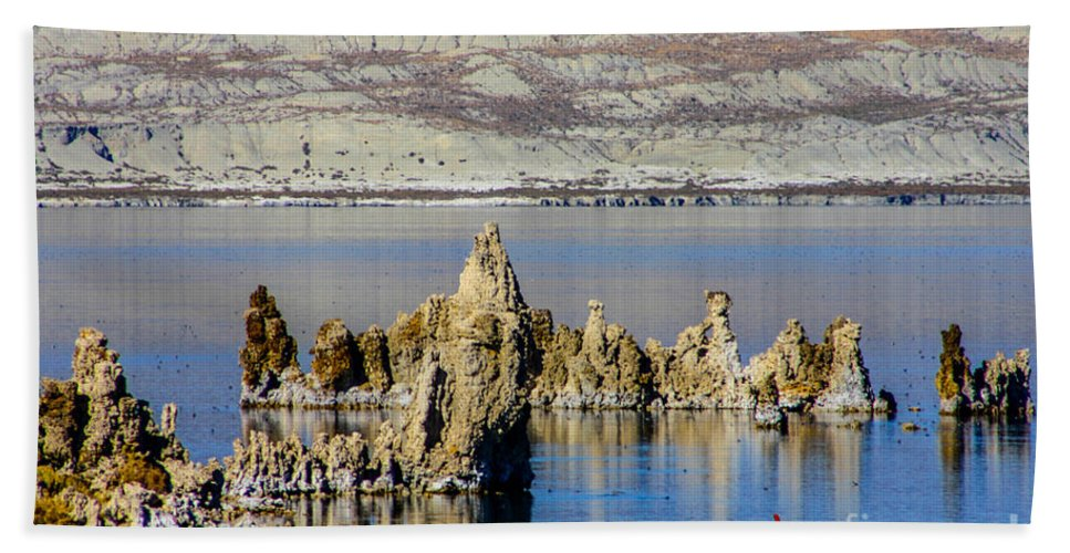 Mono Lake Beach Towel featuring the photograph Mono Lake Spires by Tommy Anderson